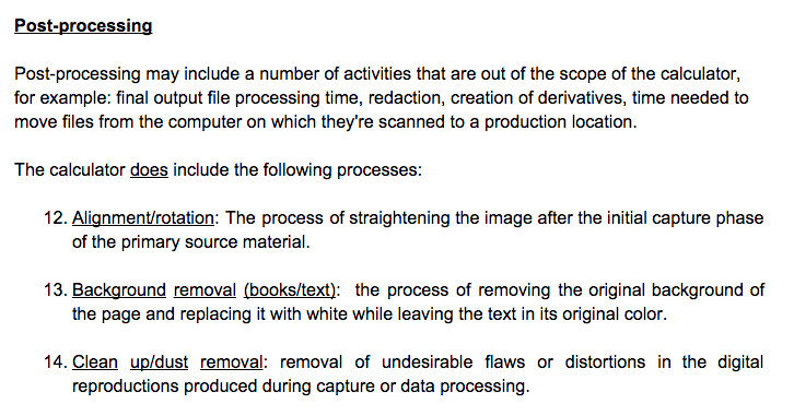 The processes and definitions document provides guidelines for those submitting time data to the calculator.