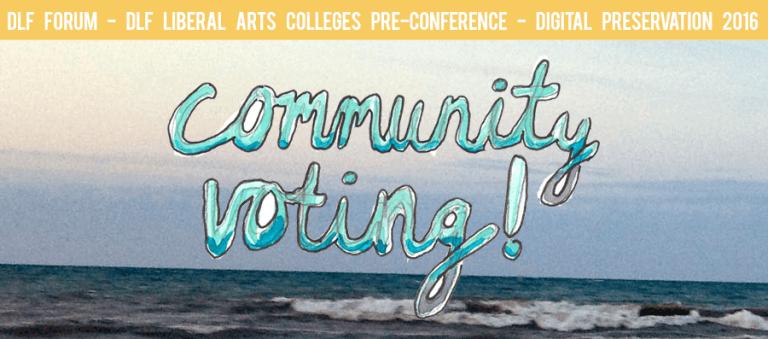 DLF Forum 2016 Community Voting