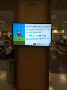 Figure 2: Library-wide advertisement for Endangered Data Week event
