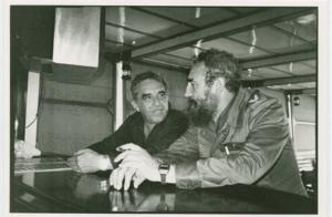 Unidentified photographer. Gabriel García Márquez with Fidel Castro, undated