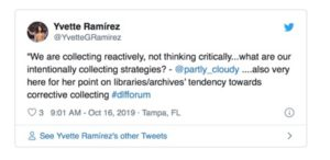 Tweet from Yvette Ramirez