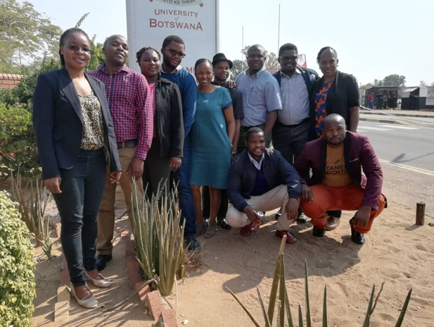 Photo of DRCP participants at the Botswana Study School