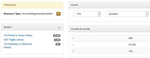 screenshot of count tool