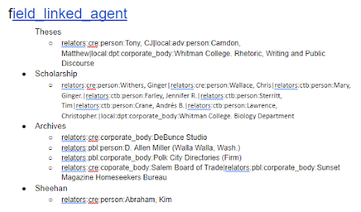 screenshot of examples document